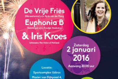 Nieuwjaarsconcert Vrije Fries/Euphonia m.m.v. Iris Kroes